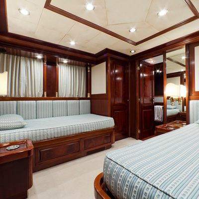 Sophie Blue Yacht Light Blue Twin Stateroom