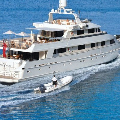 Lionshare Yacht Running with Tender
