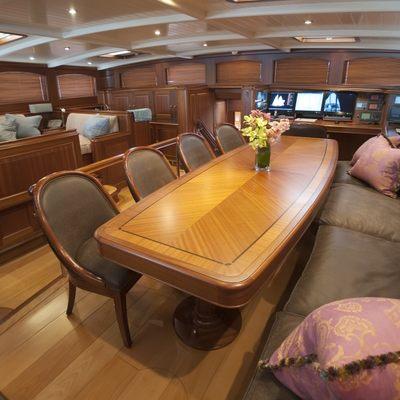 Athos Yacht Dining Area