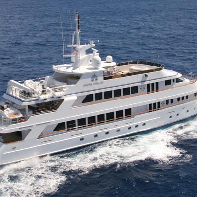 Ionian Princess Yacht Aerial View