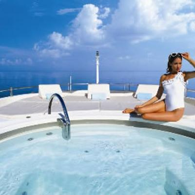 Lady Michelle Yacht Jacuzzi View