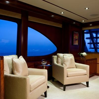 Just Enough Yacht Main Salon to Starboard
