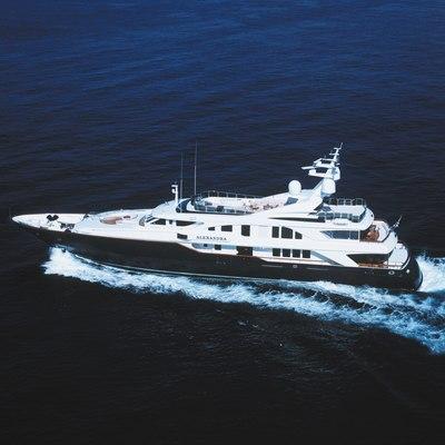 Alexandra Yacht Running Shot - Aerial