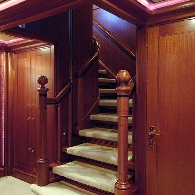 Athena Yacht Stairwell