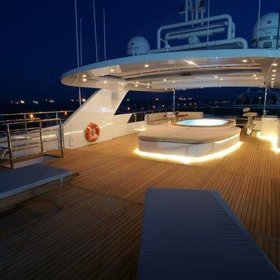 Tatiana I Yacht Sundeck - Night