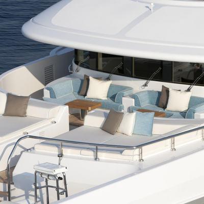 Revelry Yacht Forward Sunbathing