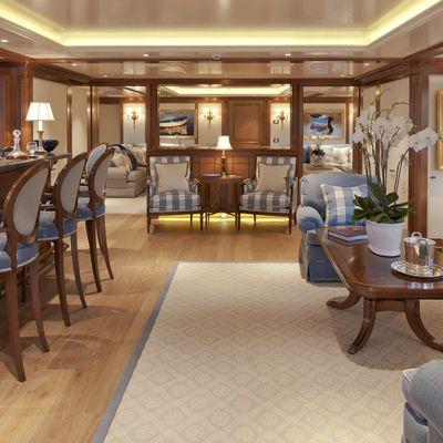 Lady Kathryn V Yacht Boat Deck Lounge