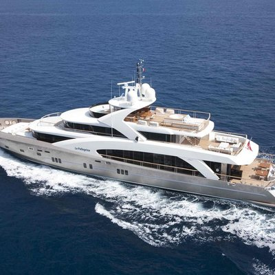 La Pellegrina I Yacht Aerial View