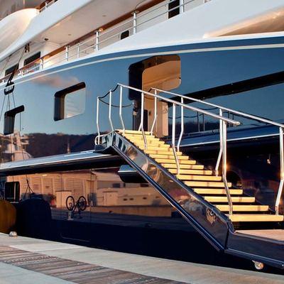 Aquila Yacht Side View - Gangway Down