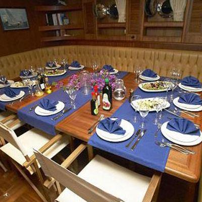 Kairos III Yacht Interior Dining