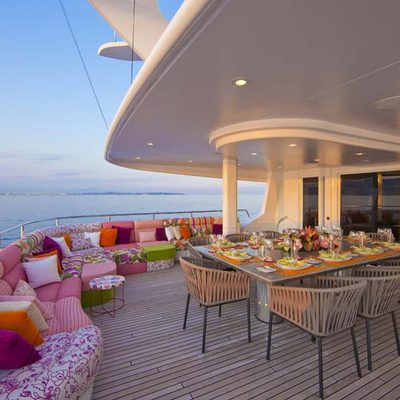 Daloli Yacht Exterior Dining - Evening