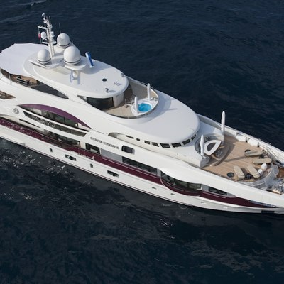 Quite Essential Yacht Aerial Shot