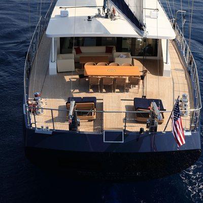 Perla del Mare Yacht Aerial View - Stern