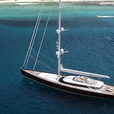 Red Dragon Yacht Aerial Shot