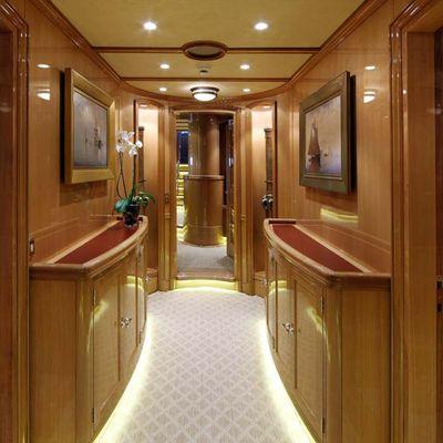 Marie Yacht Lower Corridor