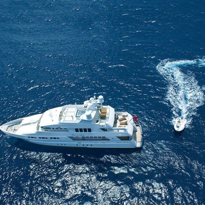 Milk and Honey Yacht Aerial View