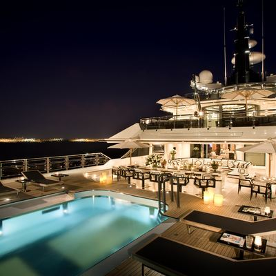 Alfa Nero Yacht Pool - Night