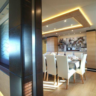 Tatiana Yacht Dining Salon & Hallway