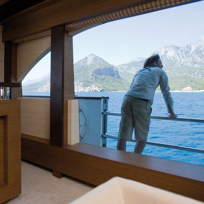 Namaste 8 Yacht Balcony