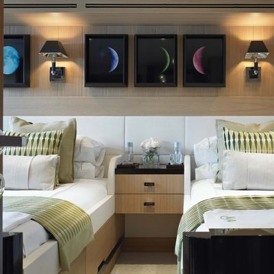 Kathleen Anne Yacht Green Twin Stateroom