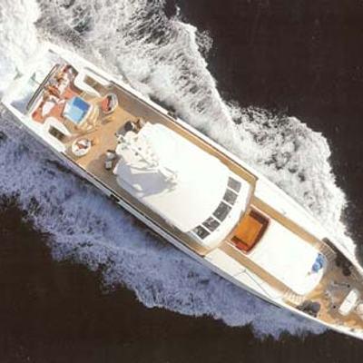Sophie Blue Yacht Running Shot - Aerial