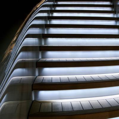 Siren Yacht Staircase - Detail