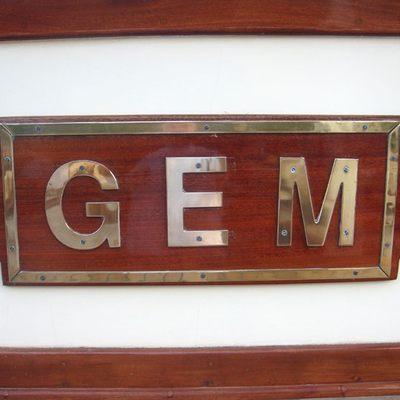 Gem Yacht Nameplate