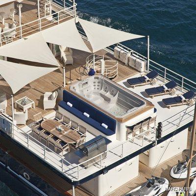 Seawolf Yacht Sundeck - Aerial View