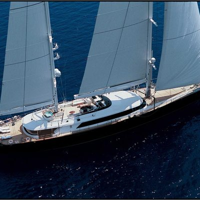 Parsifal III Yacht Aerial Profile