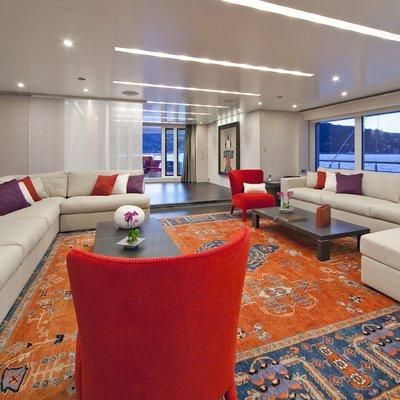 Baraka Yacht Main Salon