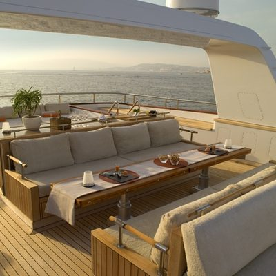 Il Cigno Yacht Sundeck Loungers