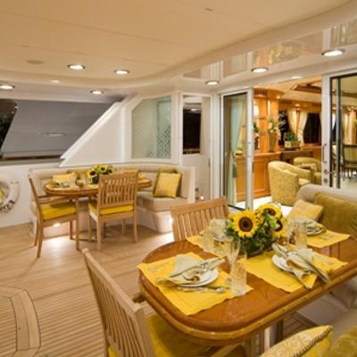 Sojourn Yacht Aft deck