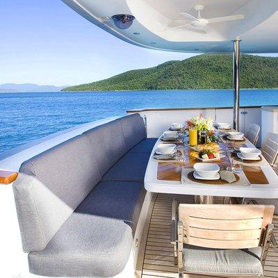 De Lisle III Yacht Alfresco Dining - Main Deck