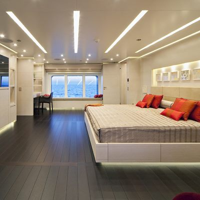 Baraka Yacht Master Stateroom - Side View