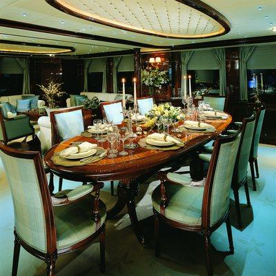 Jasmine Yacht Dining Room