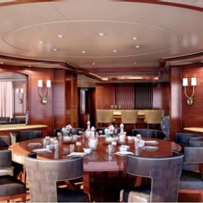 Checkmate Yacht Artist's Impression - Skylounge Deck Enclosed Dining
