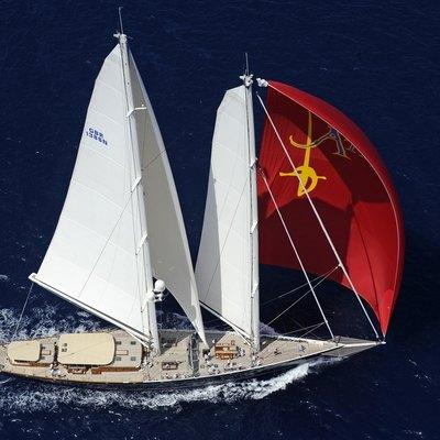 Athos Yacht Aerial Profile