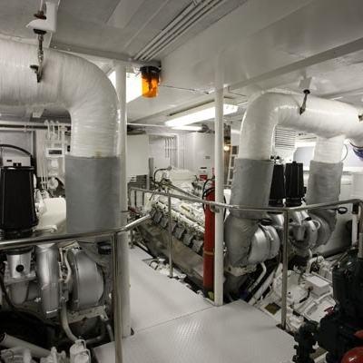 Lionshare Yacht Engine Room
