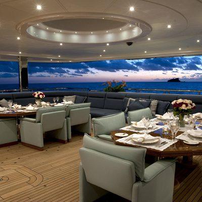 Sycara V Yacht Exterior Dining
