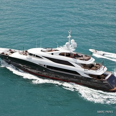 Liberty Yacht Running Shot - Aerial View