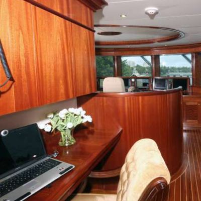 Far From It Yacht Pilothouse - Side View