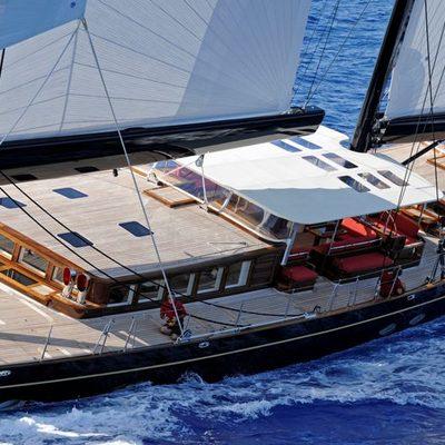 Marie Yacht Running Shot - Deck View