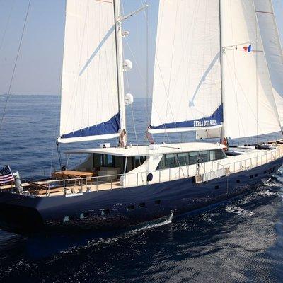 Perla del Mare Yacht Running Shot - Side View