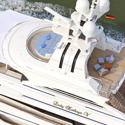 Lady Kathryn V Yacht Overhead