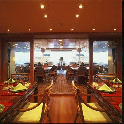 Bleu De Nimes Yacht Dining Salon