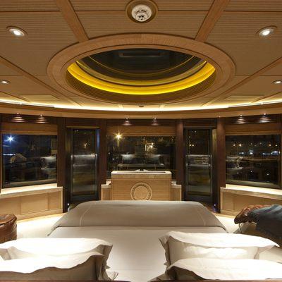 Naia Yacht Master Stateroom - Panoramic View Night