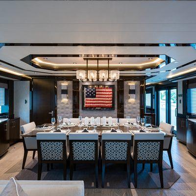 W Yacht Dining area