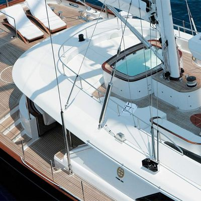 Parsifal III Yacht Aerial - Jacuzzi