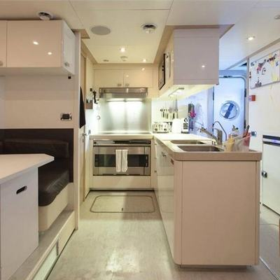 Whispering Angel Yacht Galley