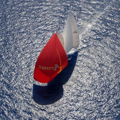 Athos Yacht Aerial View